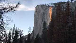 Yosemite's Horsetail Fall Appears as 'Firefall' - Video