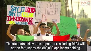 Highland High School students stage walkout in defense of DACA - Video