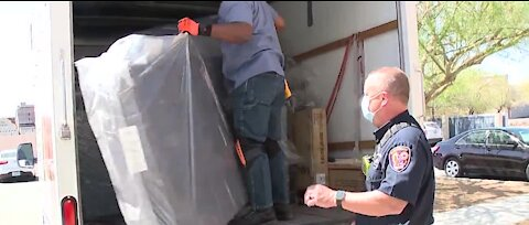 Walker Furniture delivers new mattresses to Firehouse Station 21
