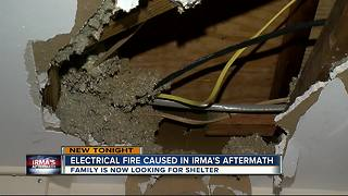 Electrical fire caused in Irma's aftermath - Video