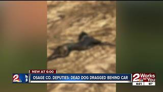 Dog dragged by car in Osage County - Video