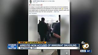 Arrested mom accused of immigrant smuggling