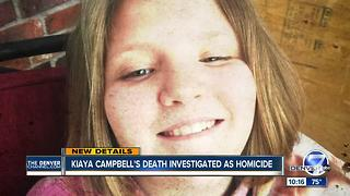 Death of 10-year-old Kiaya Campbell being investigated as a homicide - Video