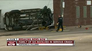 Crash on the north side involves family of six - Video