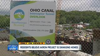 Residents blame sewer project for damaging homes
