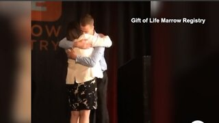 Donor meets woman he saved