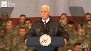 Mike Pence Stands Up In Front Of Troops In Afghanistan, Delivers A Message Direct From The President - Video