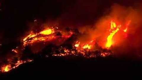 Wildfires Seen by Night in Northern Italy