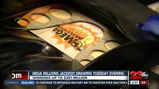 Mega Millions drawing up to $361 million - Video