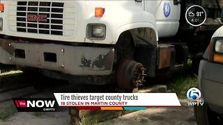 Tire thieves target Martin County trucks - Video