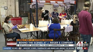 J. Rieger & Co. supplying hospitals with hand sanitizer