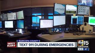 Text to 9-1-1 available for emergencies in Maricopa County - Video