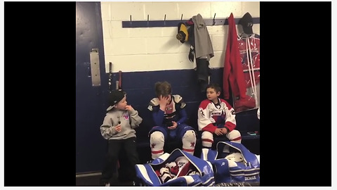This Young Hockey Player Breaks Down In Tears During Sweet Locker Room Speech