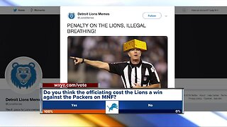 Did officiating cost the Lions a win against the Packers on Monday Night Football?