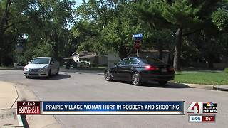 Woman robbed, shot in Prairie Village - Video
