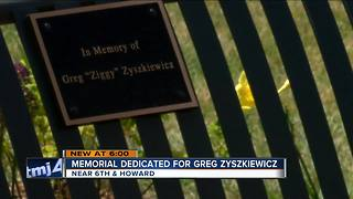 Memorial for gunned down city inspector unvieled - Video