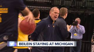John Beilein staying at Michigan after talking with Pistons - Video