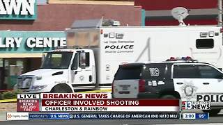 Las Vegas police on scene of shooting involving police