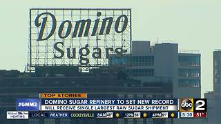 Domino Sugar Plant to get largest shipment of raw sugar