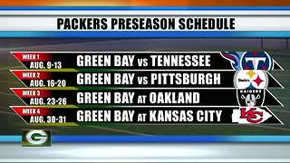 Green Bay Packers announce 2018 preseason schedule - Video