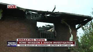 Home invasion and arson investigation underway after Detroit apartment fire - Video