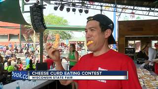 Joey Chestnut takes third place in Cheese Curd-Eating Championship at Wisconsin State Fair - Video