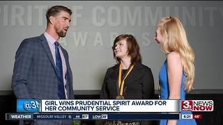 Omaha girl wins Prudential Spirit Award for service - Video