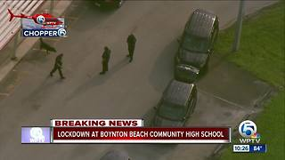 Boynton Beach High on lockdown - Video