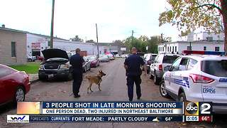 One dead, two injured after Baltimore triple shooting - Video