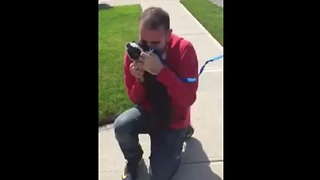 Dog Can't Contain Happiness When Reunited With Owner - Video