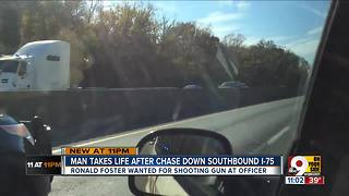 Man takes own life after high-speed chase - Video