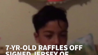 7-Yr-Old Raffles Off Signed Jersey Of Favorite Player To Benefit Puerto Rico - Video