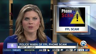 Port St. Lucie police warn of FPL phone scam - Video