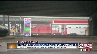 Storm Harvey impacts gas prices in Oklahoma - Video