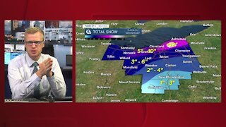 Tuesday morning update on winter storm