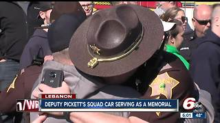 Cruiser memorial for Deputy Jacob Pickett at the Boone Co. Sheriff's Office - Video