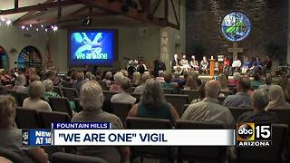 Fountain Hills community holds vigil for unity - Video