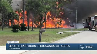 Fire burns thousands of acres in Collier County