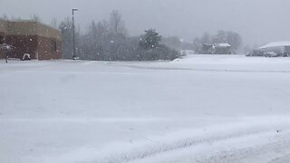 May Snow Blankets Michigan Town