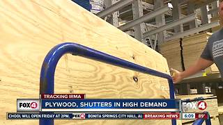 Plywood, shutters in high demand as Hurricane Irma approaches Florida - Video