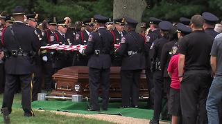 The flag folding ceremony at Lt. Aaron Allan's funeral - Video