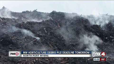 MW Horticulture debris pile continues to burn as deadline approaches