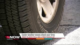 Cooler weather means check your tires - Video