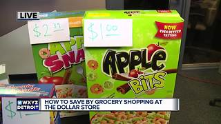 How to save by grocery shopping at the dollar store - Video