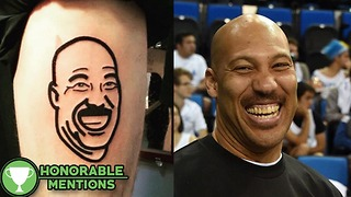 Fantasy Football Loser Gets a LaVar Ball TATTOO as Punishment -HM - Video