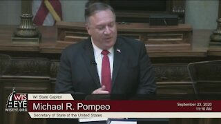 Pompeo warns of China influence in state, local governments