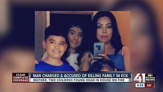 Man accused of killing a woman and her two children