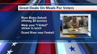 Deals on meals for voters in metro Detroit