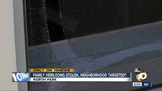 Family heirlooms stolen from North Park home, highlighting string of burglaries - Video