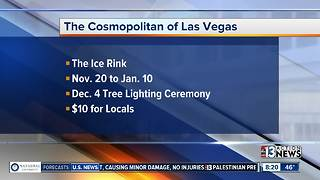 The Cosmopolitan of Las Vegas opens The Ice Rink tomorrow - Video